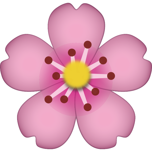 Flower emoji clipart jpg library download Download Cherry Blossom Emoji Icon | Emoji Island jpg library download