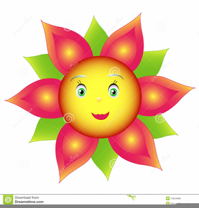Free images at clker. Flowers with faces clipart
