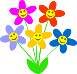 Flowers with faces clipart. Free smiley plant cliparts