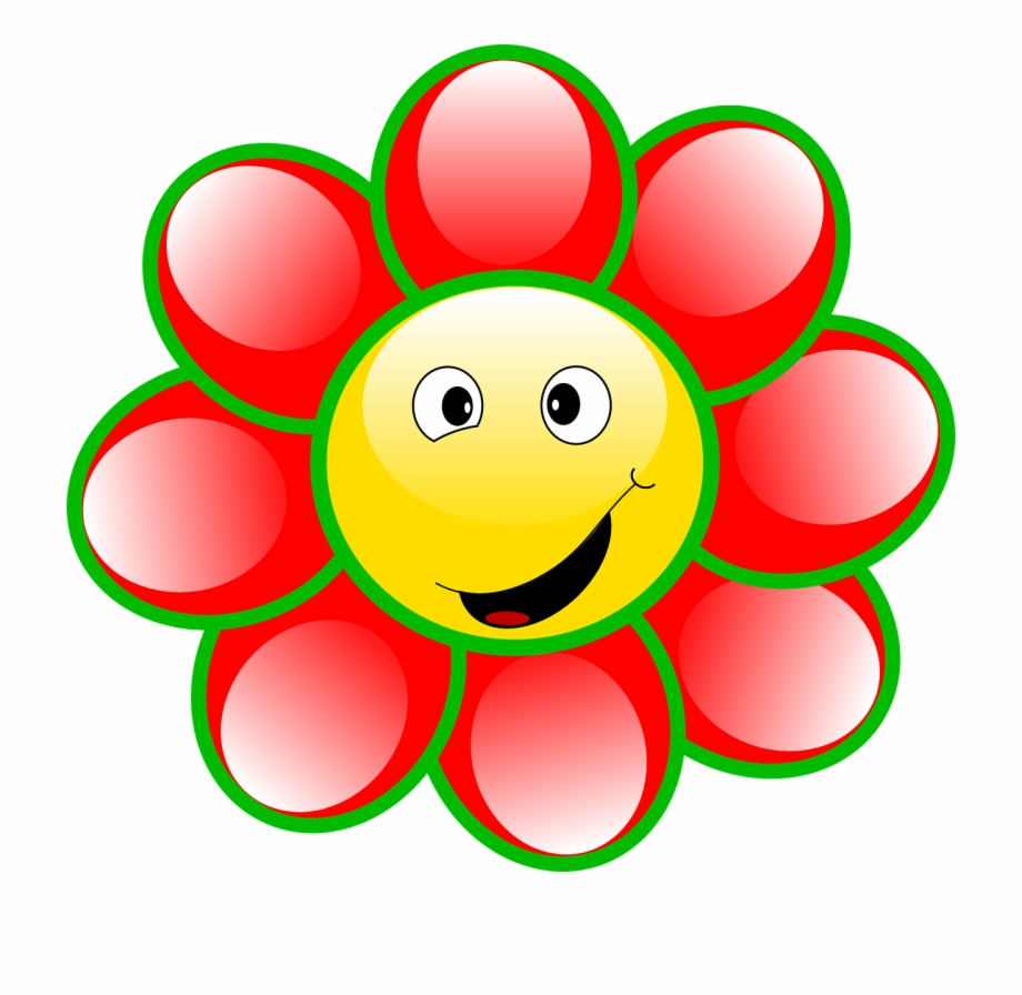 Smiley flower face goofy. Flowers with faces clipart