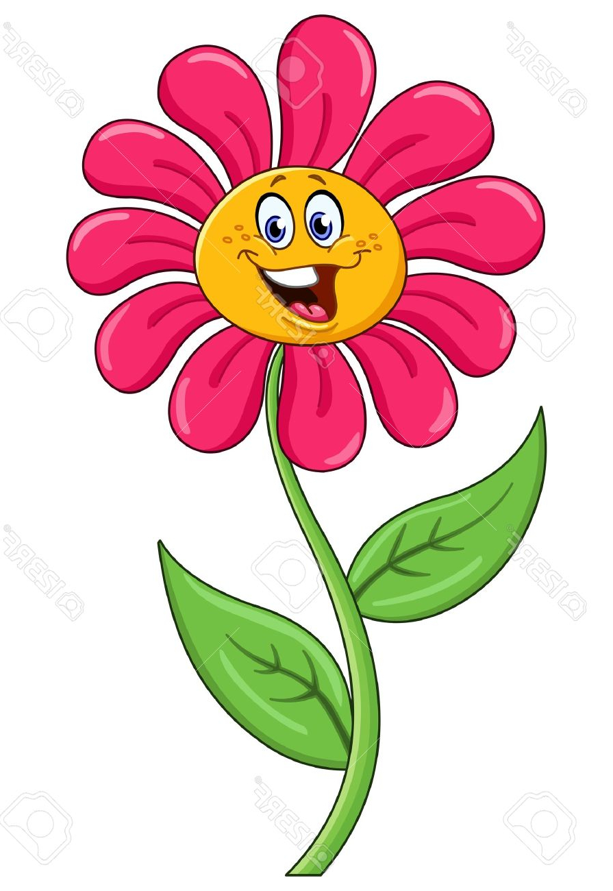Cartoon flower face clipartfest. Flowers with faces clipart