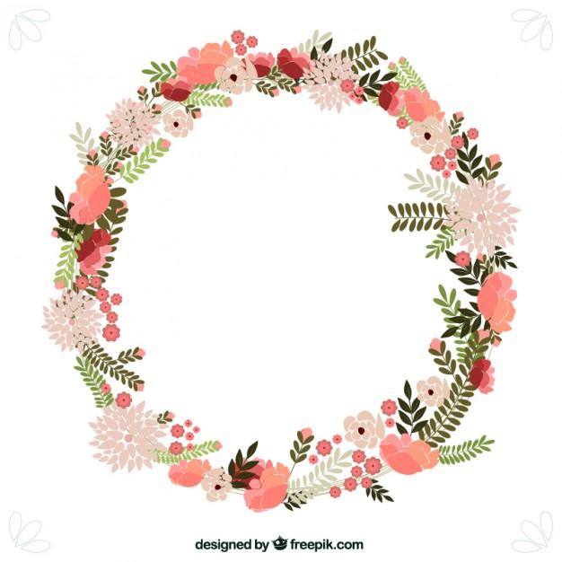 Flowers wreath clipart. Floral png transparent images