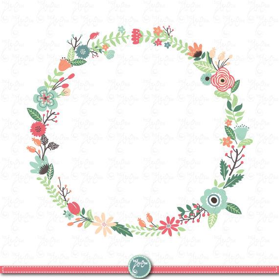Flowers wreath clipart. Wreaths floral clip art