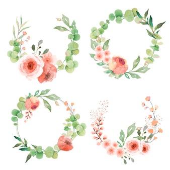 Flower vectors photos and. Flowers wreath clipart