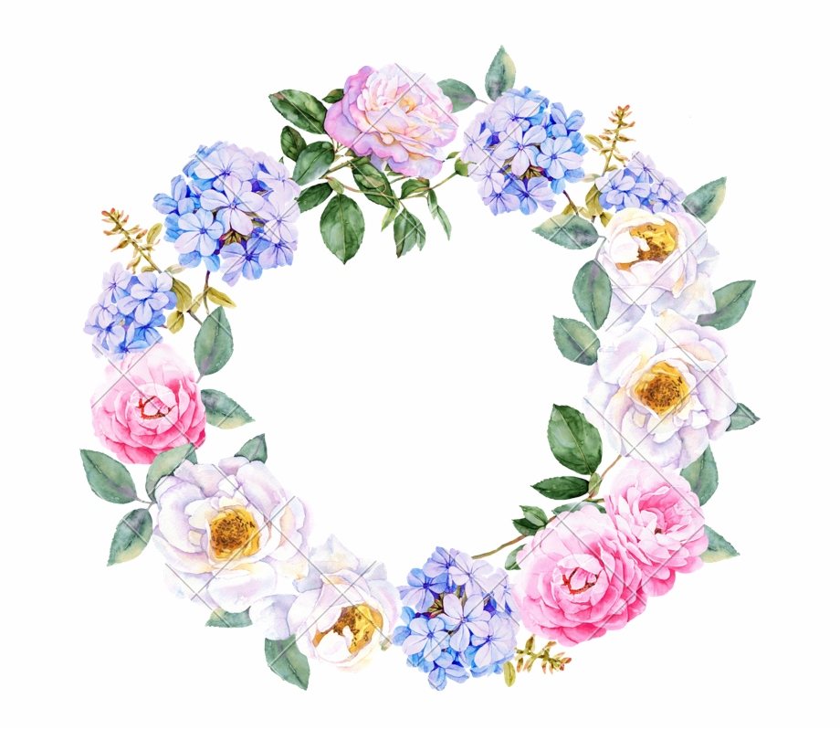 watercolor flower png. Flowers wreath clipart