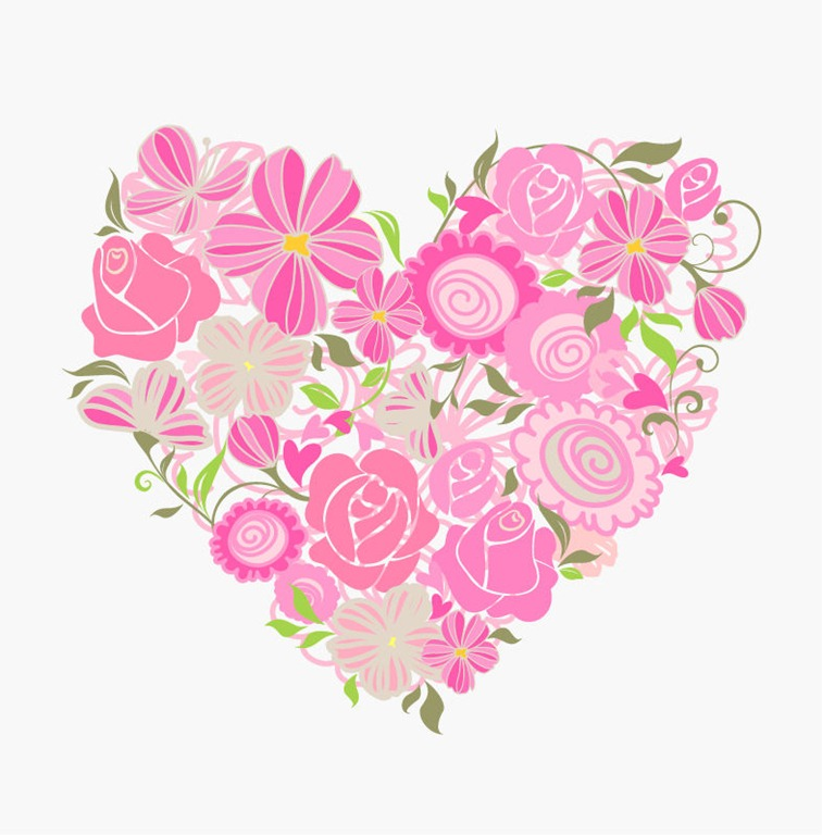 Flowery graphics jpg freeuse stock Pink floral graphics - ClipartFest jpg freeuse stock