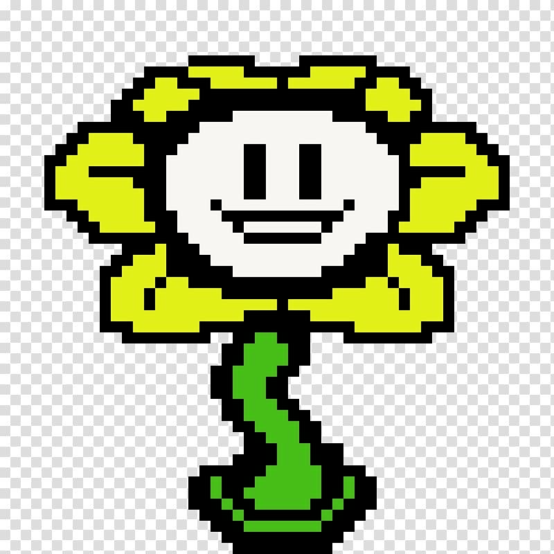 Flowey the flower clipart. Undertale pixel art bones