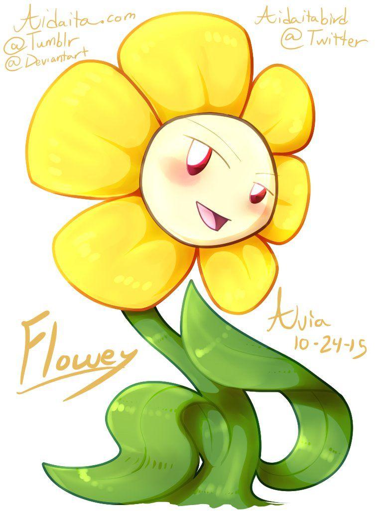 La fleur par aidaita. Flowey the flower clipart