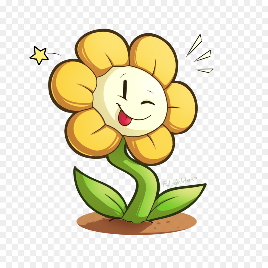 Flowey the flower clipart. Flowers background png download
