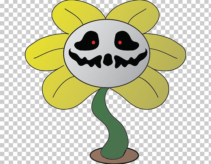 Undertale png artwork cartoon. Flowey the flower clipart