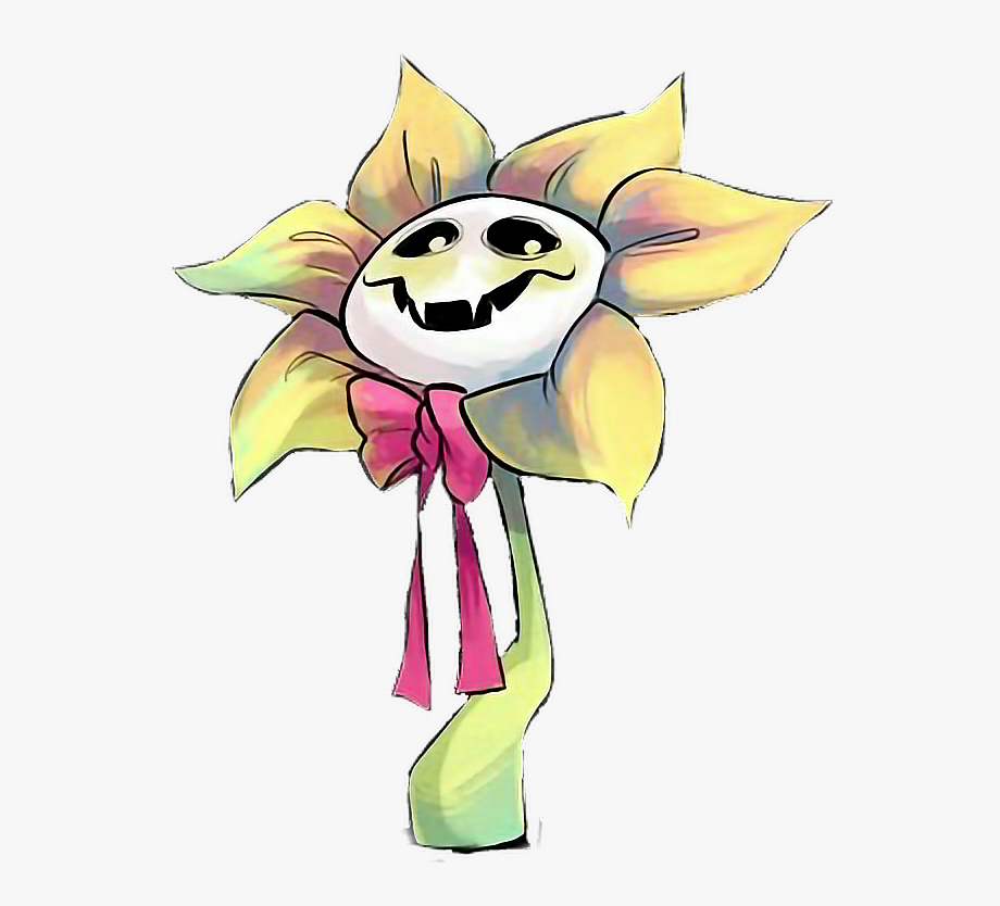 Undertale anime style png. Flowey the flower clipart