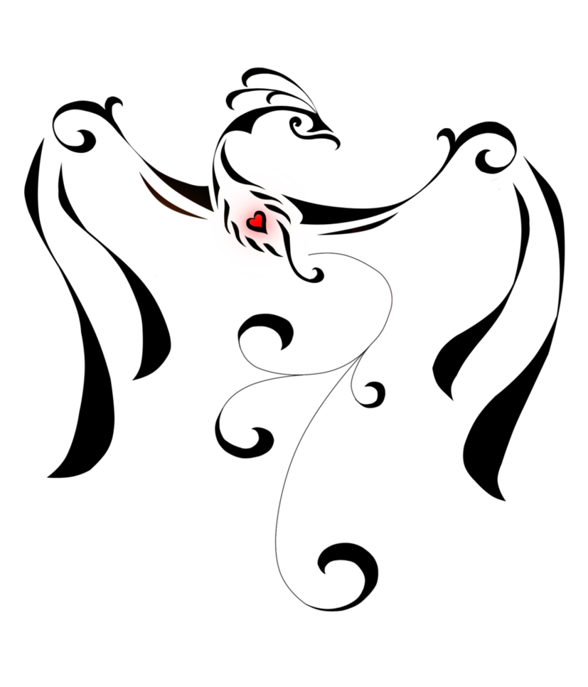 Flowy fish clipart silhouette jpg freeuse Phoenix Tattoo 2 by ~Auralous | Cool Stuff | Pinterest | Phoenix ... jpg freeuse