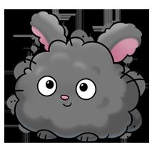 Super illustration doodles cute. Fluffy bunny clipart