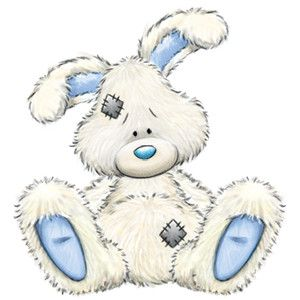 Fluffy bunny clipart. Carte blanche my blue