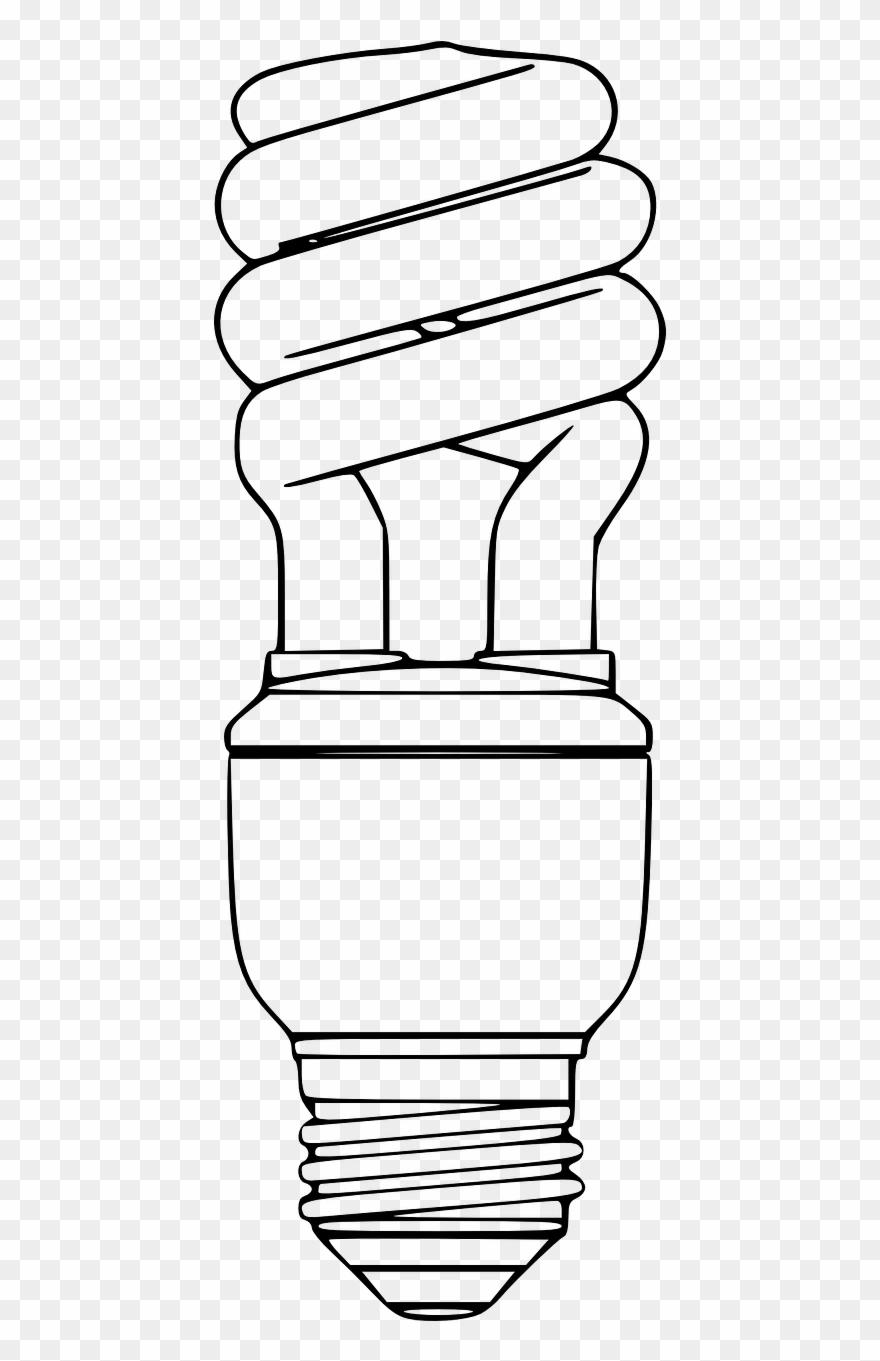Fluorescent bulb clipart clip art download Compact Fluorescent Lamps White Png Image Clipart (#1837008 ... clip art download