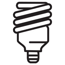 Fluorescent bulb clipart. Collection of free download