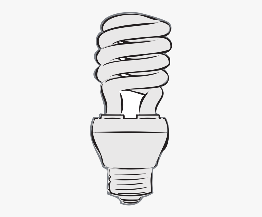 Incandescent light led lamp. Fluorescent bulb clipart