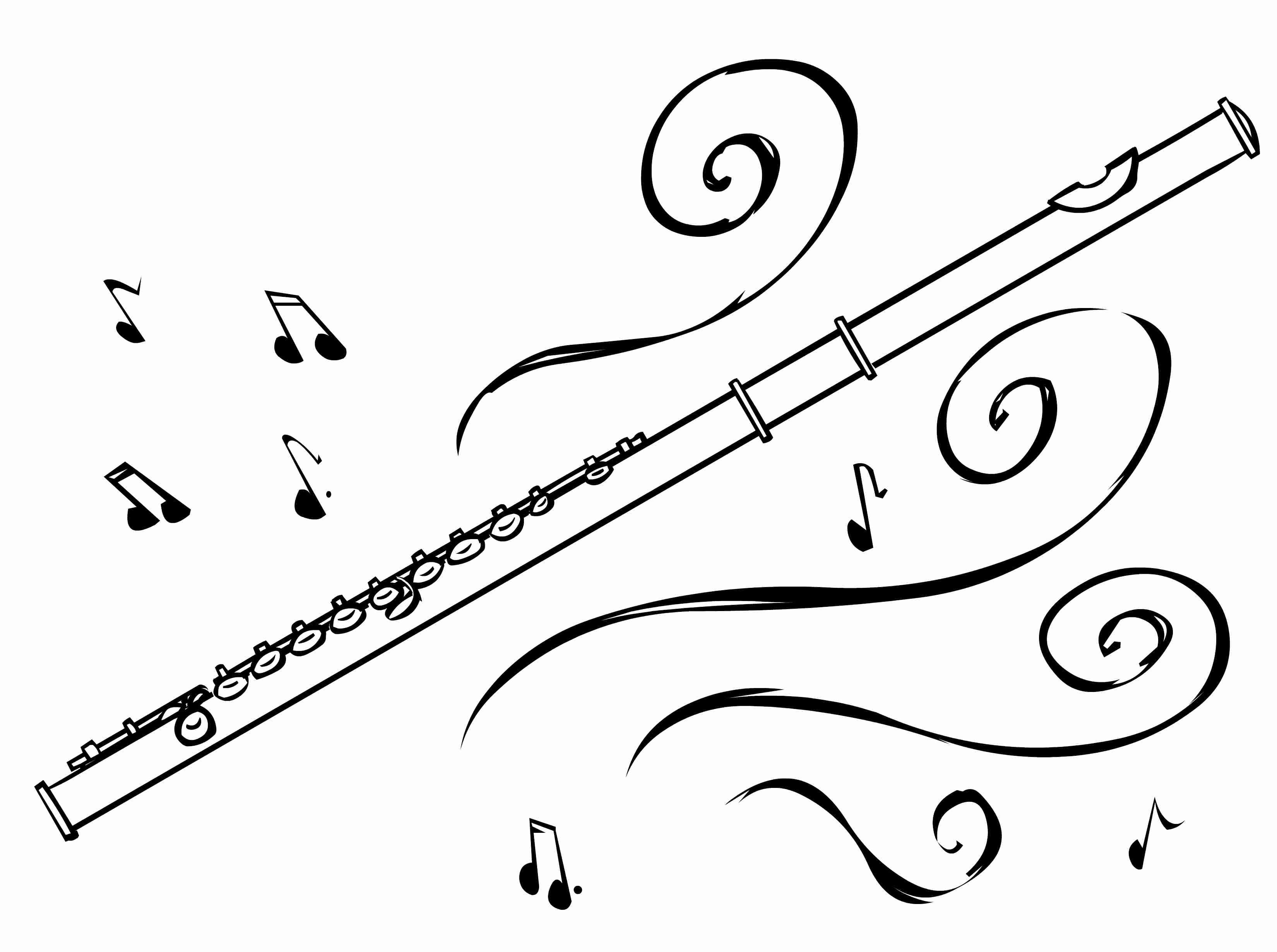 Flute black and white clipart clipart transparent Flute Clipart Drawn Pencil And In Color With Black White | B64 ... clipart transparent