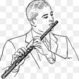 Flute black and white clipart png royalty free Download flute black and white clipart Flute Clip art png royalty free