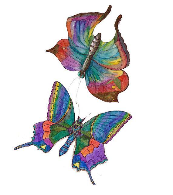 Flutter clipart jpg royalty free stock Clip Art Digital Download - Two Butterflies - blog, art, clip art ... jpg royalty free stock