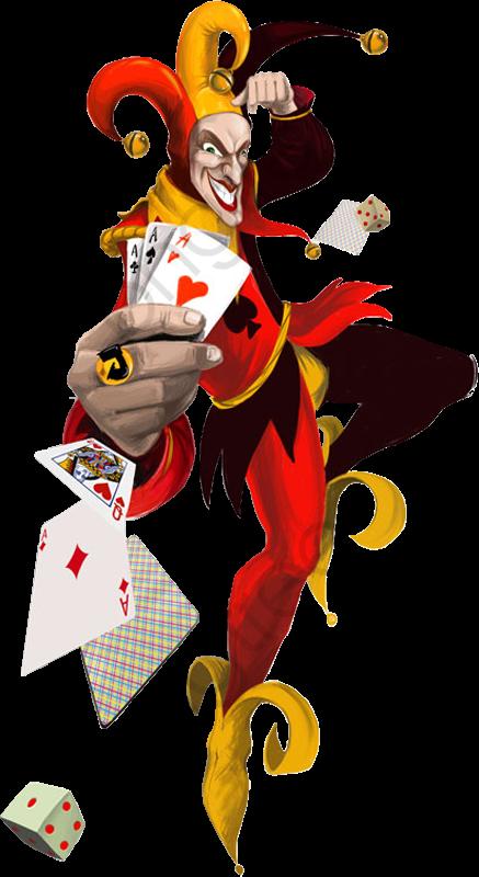 Kepi joker poker png. Flutter clipart