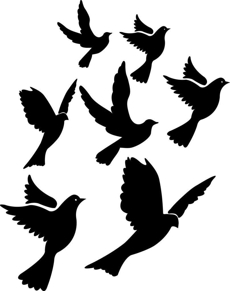 Fly bird clipart. Silhouette tattoo design best