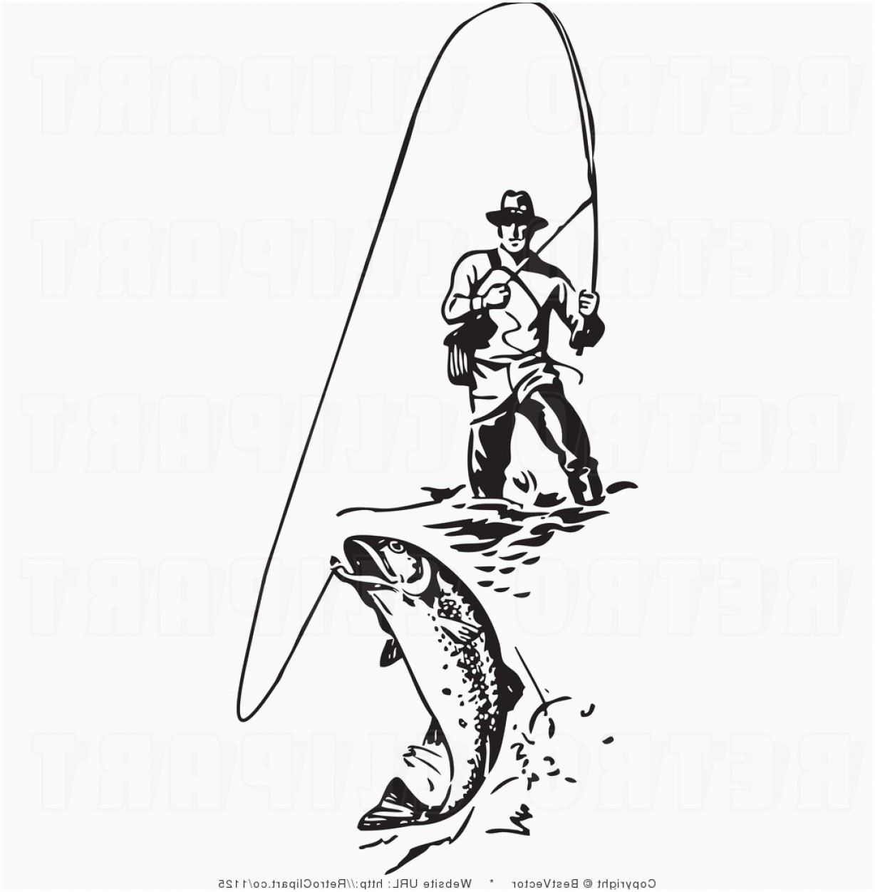 Free elegant clip art. Fly fishing pictures clipart