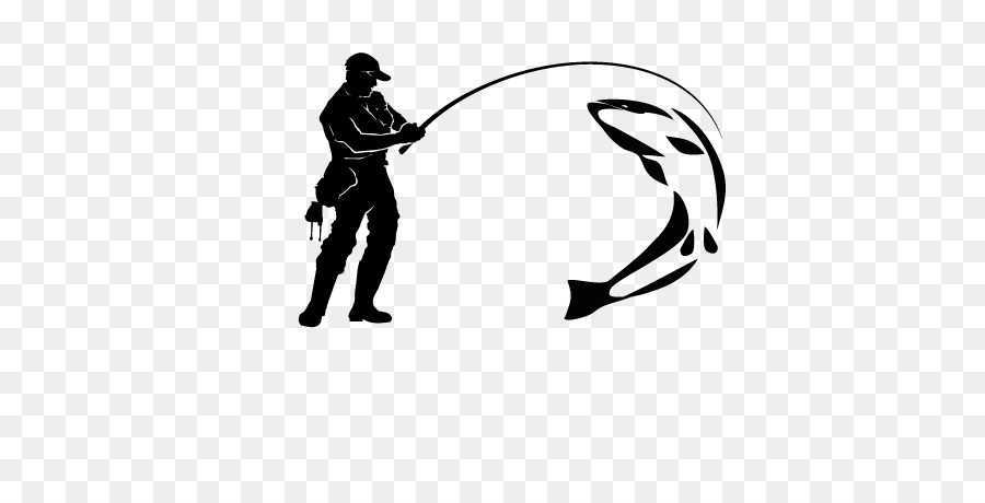 Fly fishing pictures clipart. Cartoon white black transparent