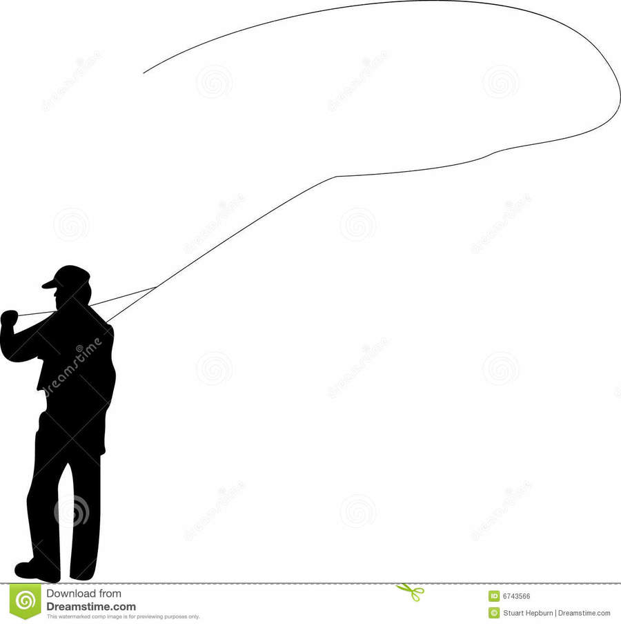 Fly fishing pictures clipart. Download silhouette casting clip