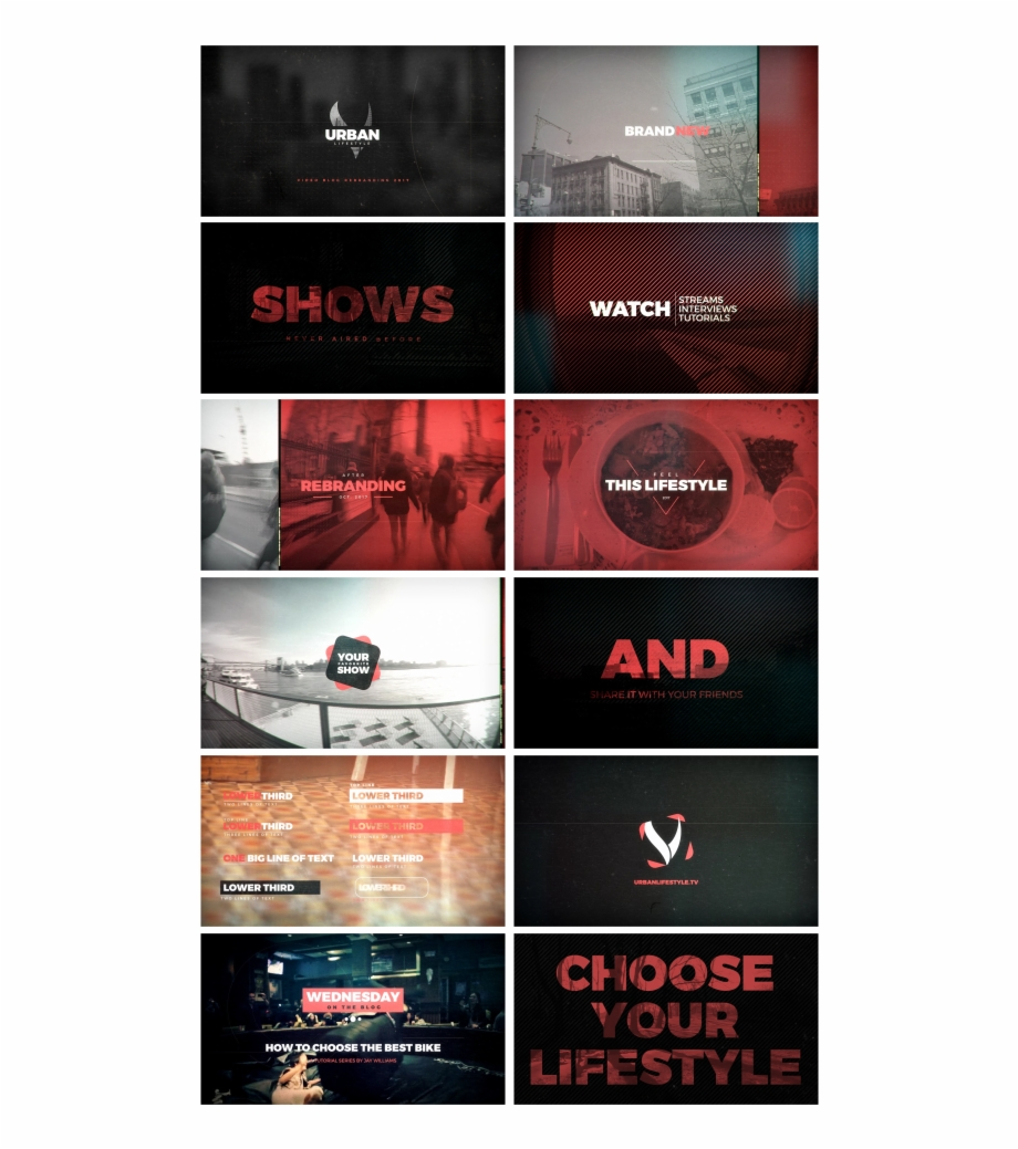 Flyer effects clipart image free download Urban Lifestyle Video Blog Package After Effects Templates - Flyer ... image free download
