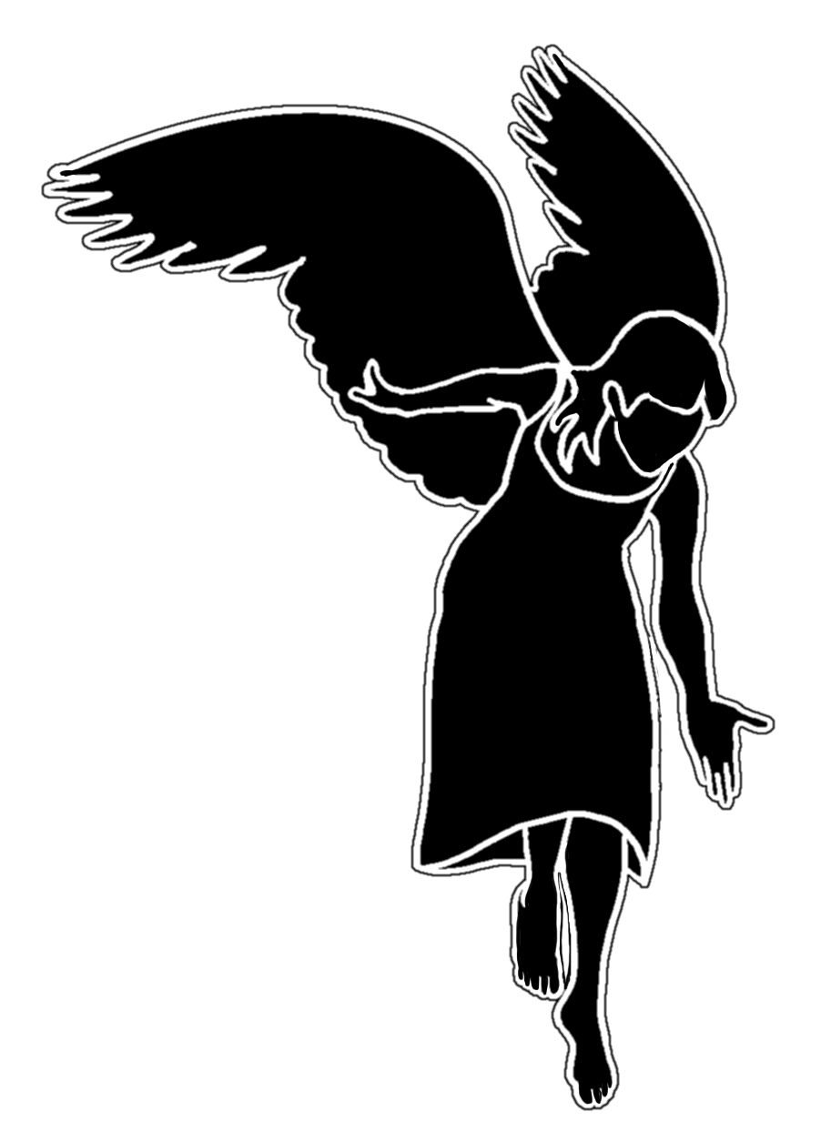 Flying angels with cross black white clipart clipart freeuse Angels Silhouette at GetDrawings.com | Free for personal use Angels ... clipart freeuse