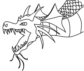 Great pictures of cool. Flying baby dragon outline clipart black and white