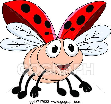 Flying bug clipart png transparent stock EPS Illustration - Lady bug flying . Vector Clipart gg68717633 - GoGraph png transparent stock