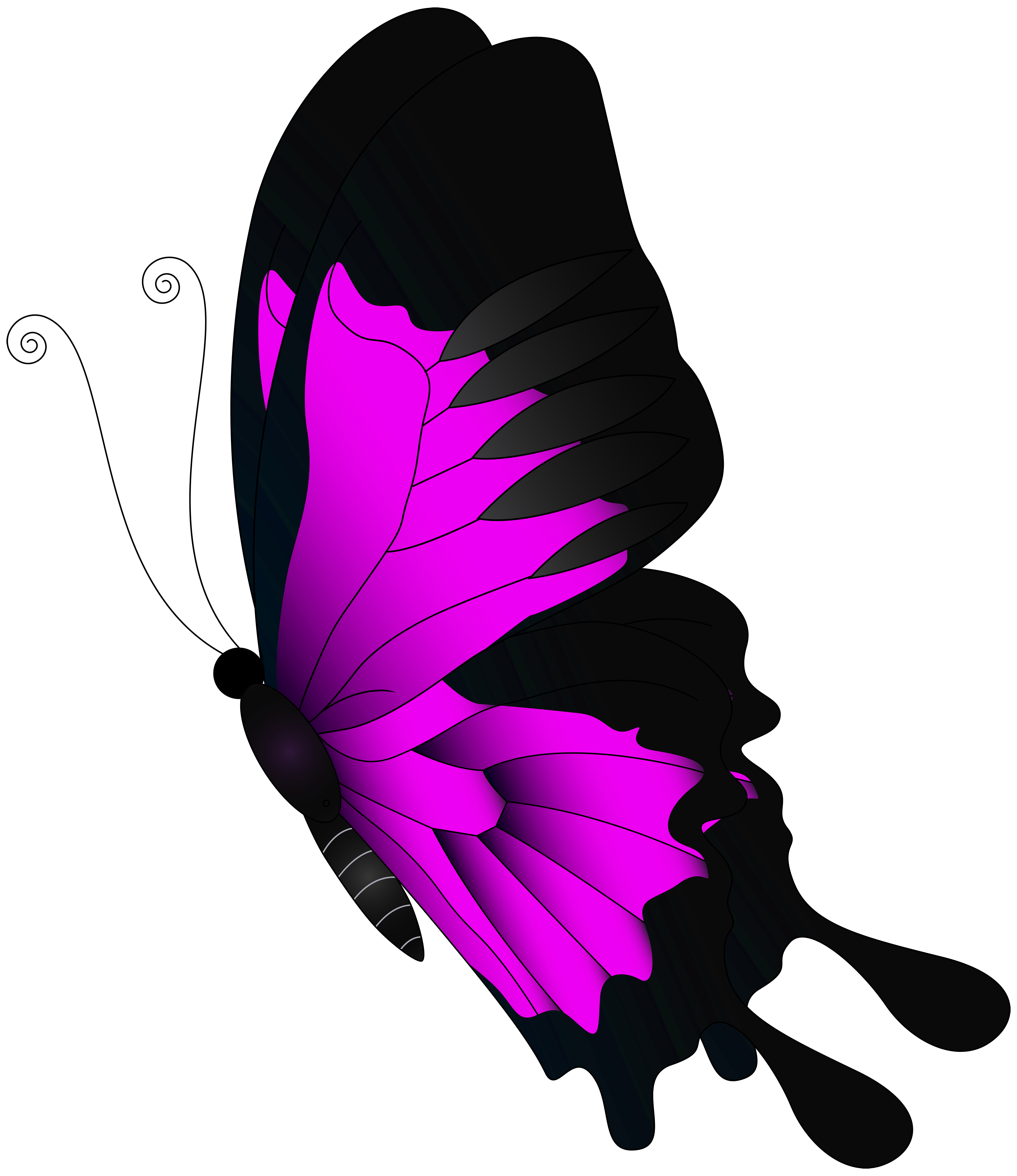 Flying butterfly clipart image freeuse stock Pink Flying Butterfly PNG Clip Art | Gallery Yopriceville - High ... freeuse stock