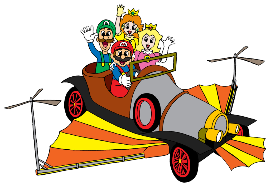 Flying car clipart banner free library Commission - Super Mario Chitty Chitty Bang Bang by RetroUniverseArt ... banner free library
