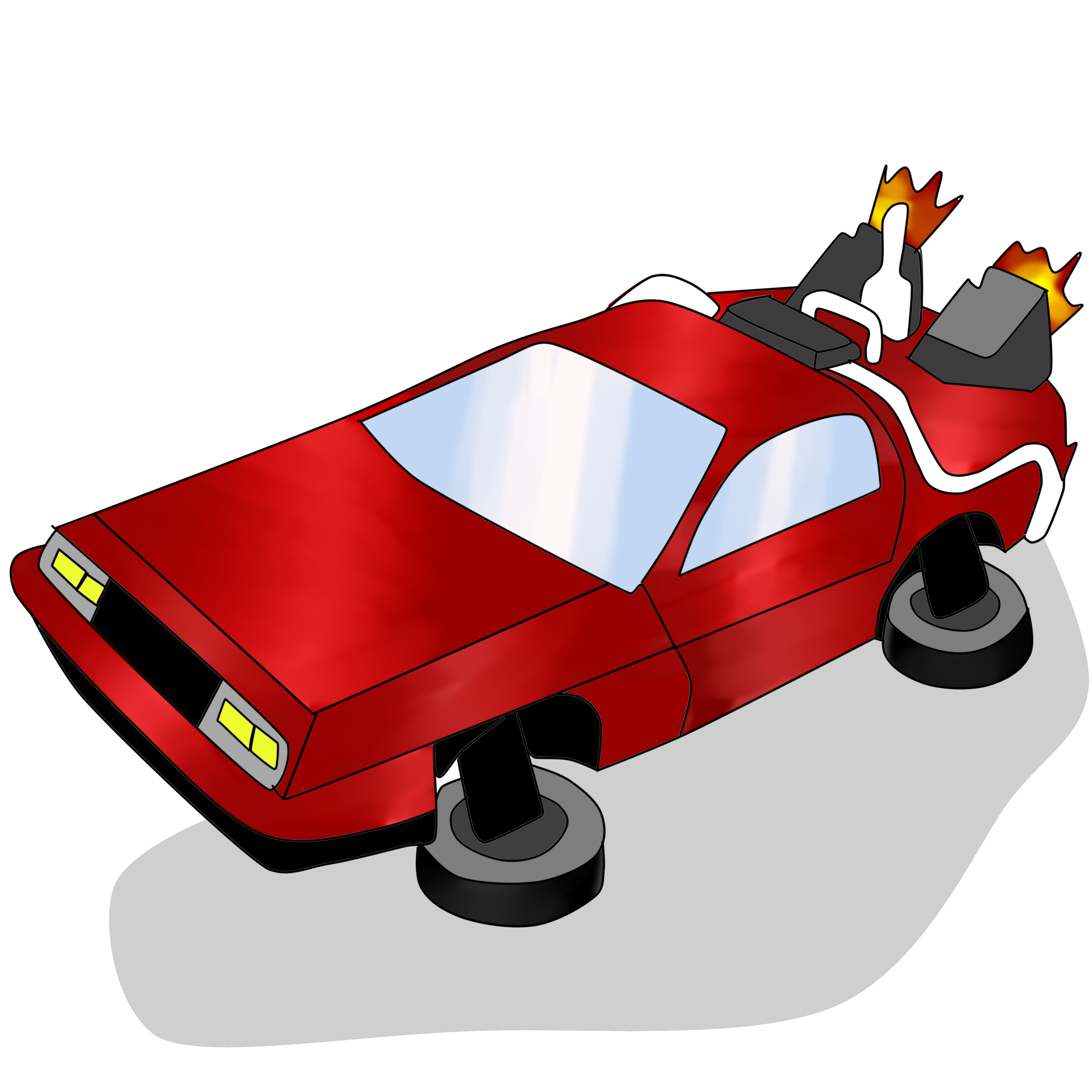 Flying car clipart svg library library Flashback to the Future – El Estoque svg library library