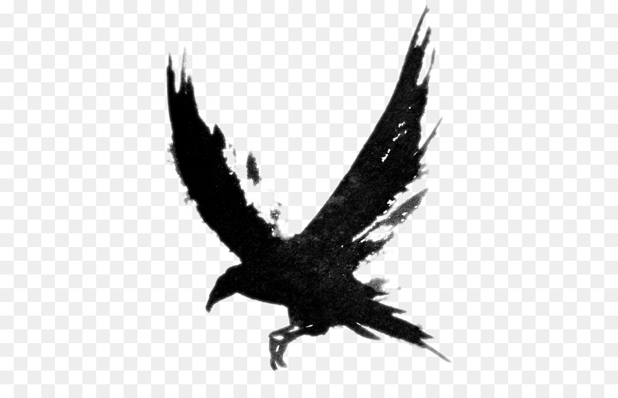 Flying crow clipart clip art royalty free download Flying Crow PNG Black And White Transparent Flying Crow Black And ... clip art royalty free download