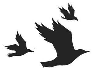 Flying crow clipart png royalty free stock Three Flying Crows Cropped | Free Images at Clker.com - vector clip ... png royalty free stock
