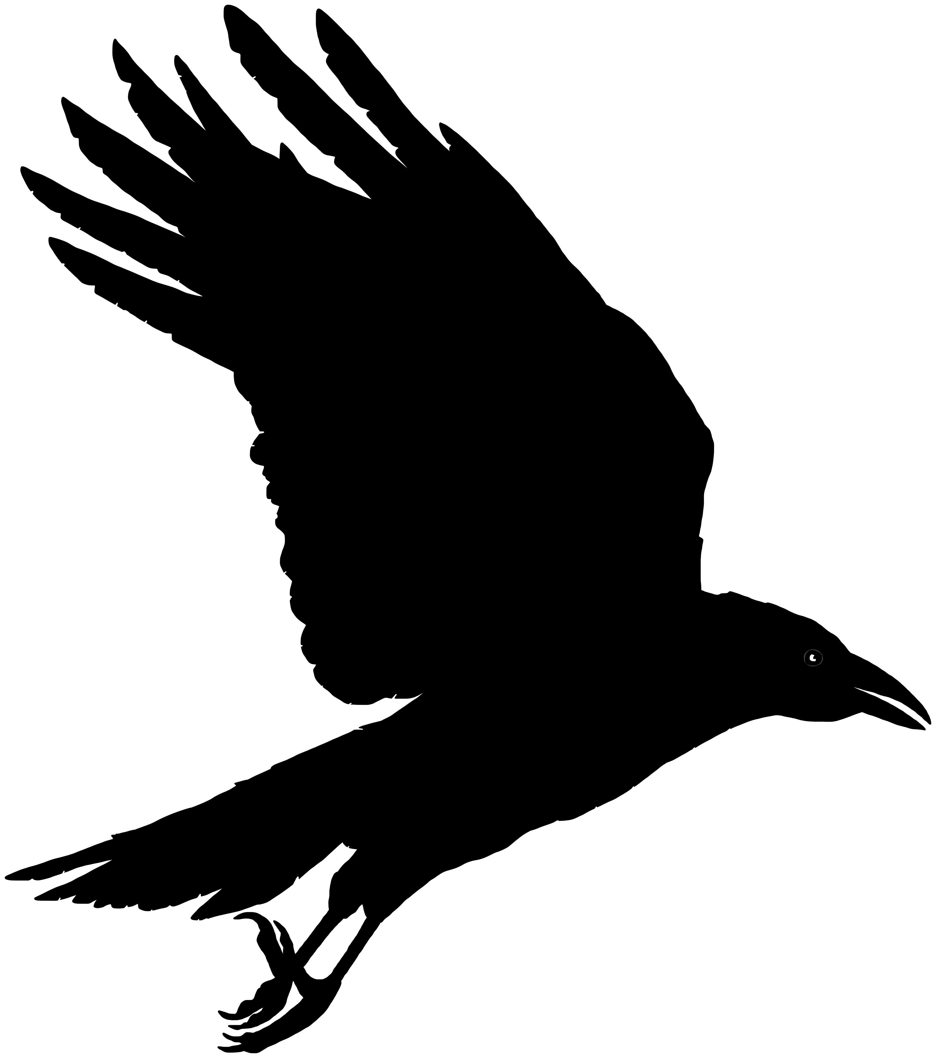 Free clipart crow clip art black and white library Flying crow clipart 4 » Clipart Portal clip art black and white library