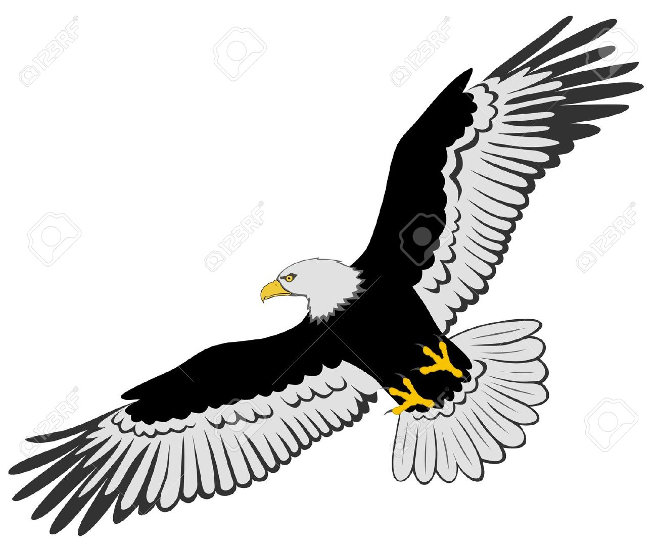 Outline cliparts free download. Flying eagle clipart black and white