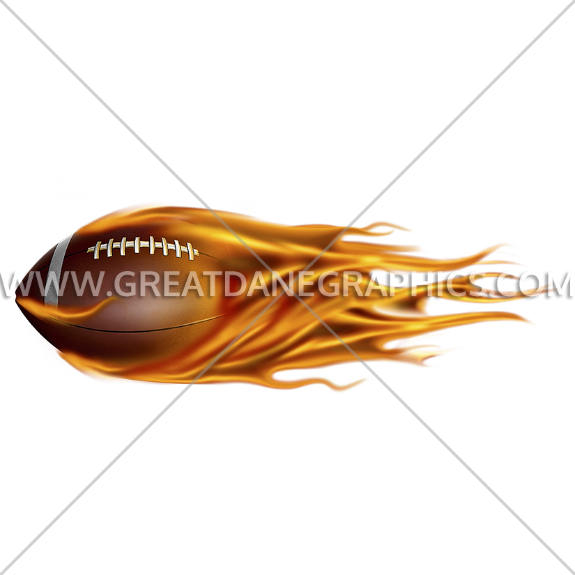 Flying football clipart banner royalty free Flying Flaming Football | Production Ready Artwork for T-Shirt Printing banner royalty free