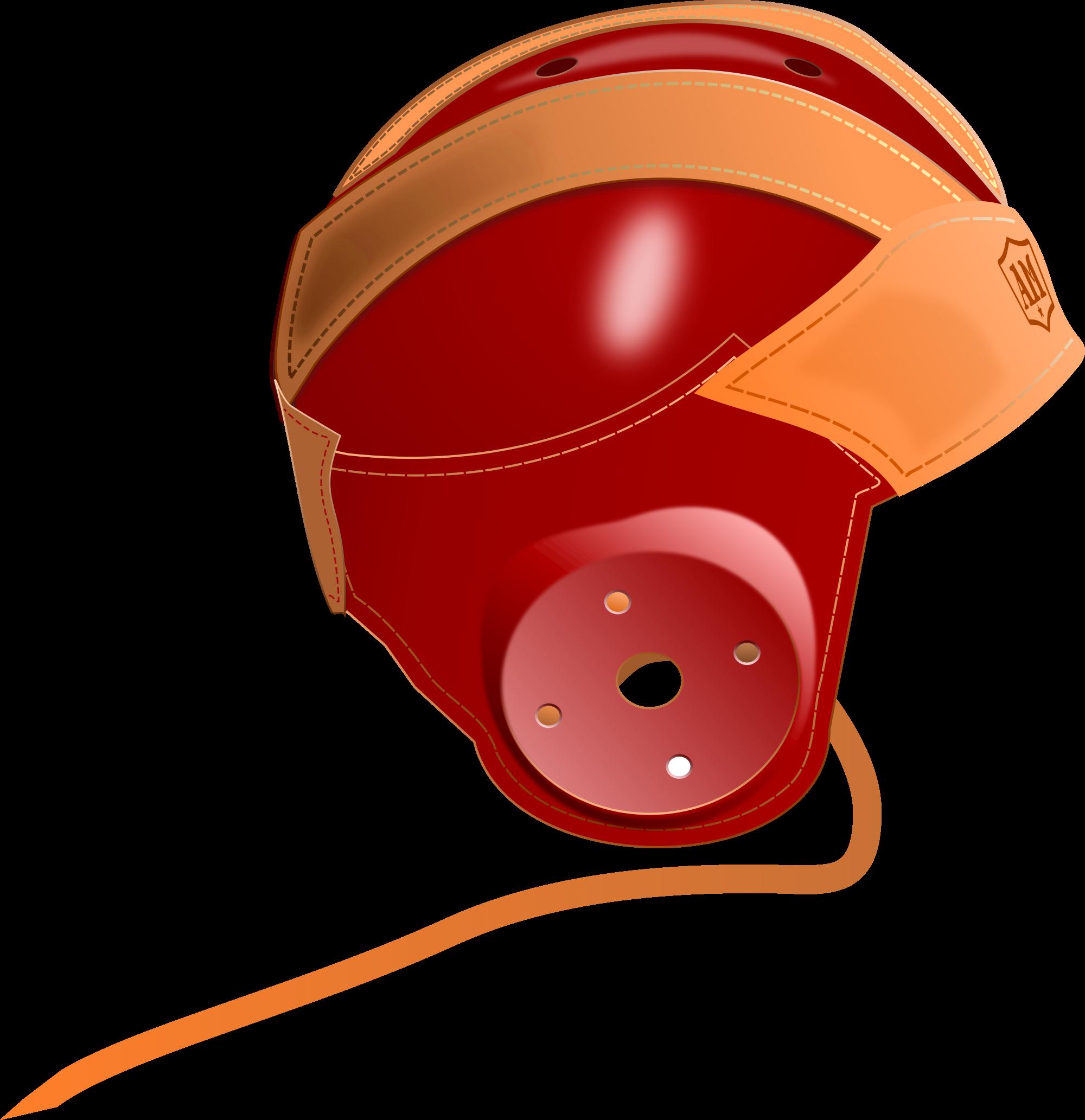 Flying football clipart jpg free Leather head helmet clipart jpg free