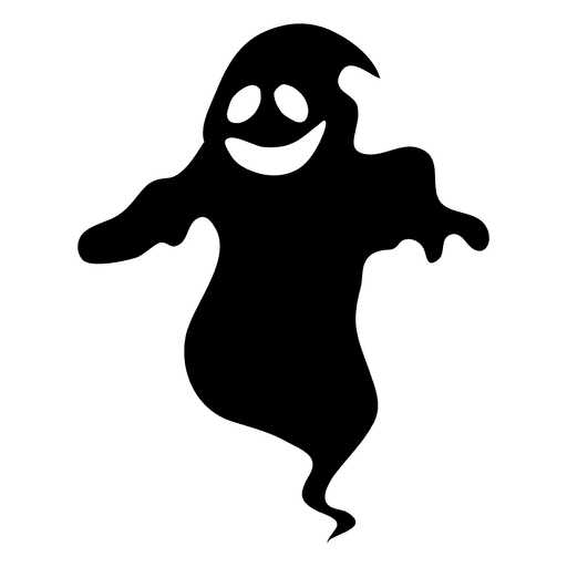 Flying ghost clipart black and white transparent vector download Black ghost silhouette 14 - Transparent PNG & SVG vector vector download
