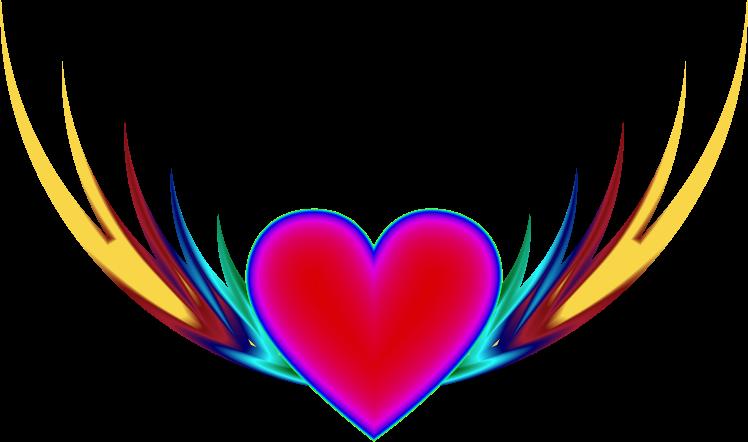 Flying heart clipart jpg black and white download Clipart - Flying Heart 3 jpg black and white download