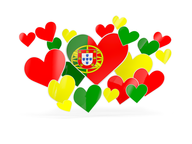 Flying heart clipart clip art library library Flying heart stickers. Illustration of flag of Portugal clip art library library