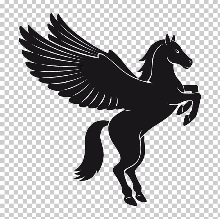 Black pegasus clipart picture transparent library Pegasus Flying Horses PNG, Clipart, Art, Black And White, Fantasy ... picture transparent library