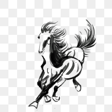 Png vector psd and. Flying horse clipart
