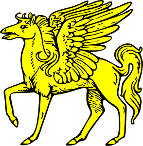 Winged clip art at. Flying horse clipart