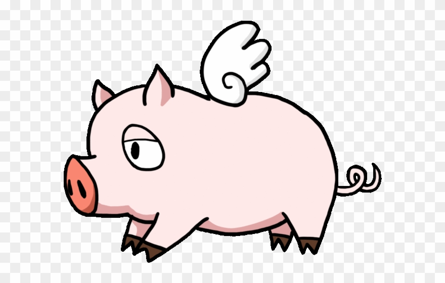 Flying pig clipart black and white download Flying Pig Png Clipart (#1331541) - PinClipart black and white download