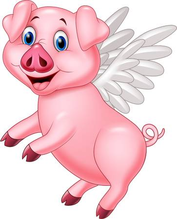 Flying pig clipart graphic free download 693 Flying Pig Stock Vector Illustration And Royalty Free Better ... graphic free download